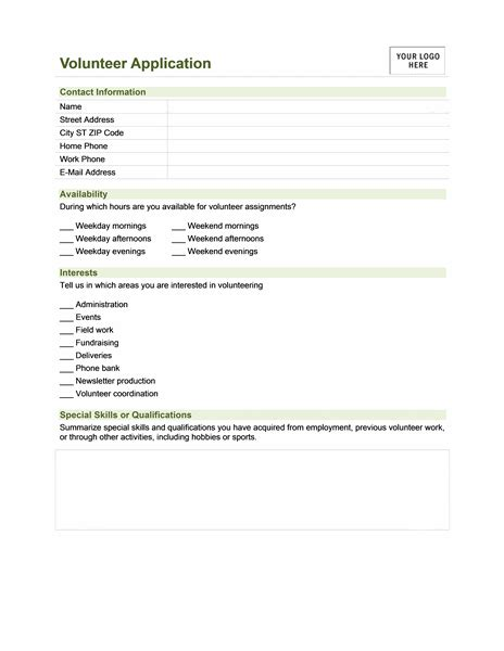 Sle Volunteer Application Form Is Mandatory For All Organization Especially Nonprofit Volunteer Contact Form Template