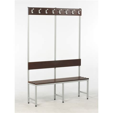 changing room benches with hooks changing room bench 900 with back rest hook board single sided