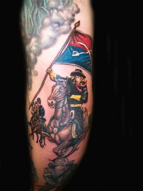 history of tattoos civil war cavalry soldier tattoo