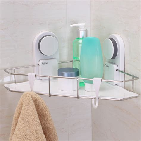 suction cup shelf bathroom jiabao strong suction cup stainless steel tripod bathroom