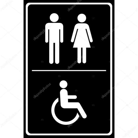 The Sign Black toilet sign with black background sign sign