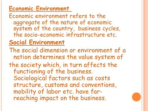 the environment of business and external business environment