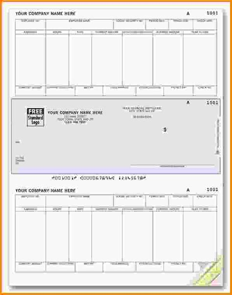 check stub template pay stub template for excel download