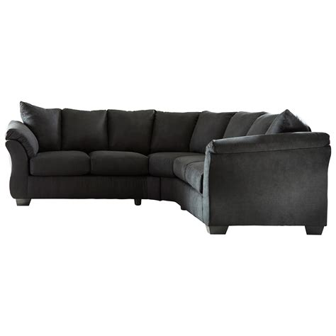 darcy sectional sofa signature design by darcy black contemporary