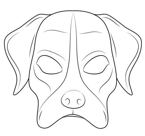 printable animal mask coloring pages dog free download mask coloring pages art culture