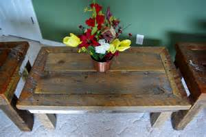 Rustic Coffee And End Tables Reclaimed Rustics Rustic Coffee Table Matching End Tables