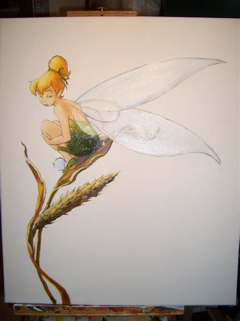 tinkerbell painting free tinkerbell by lilydraconis on deviantart