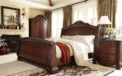 north shore sleigh bed north shore sleigh bedroom set from ashley b553