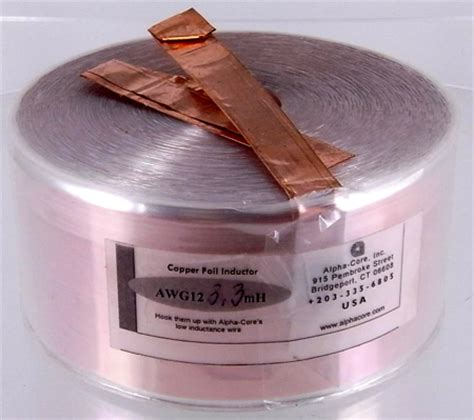 goertz foil inductors goertz cf3 3 12 awg copper foil inductor