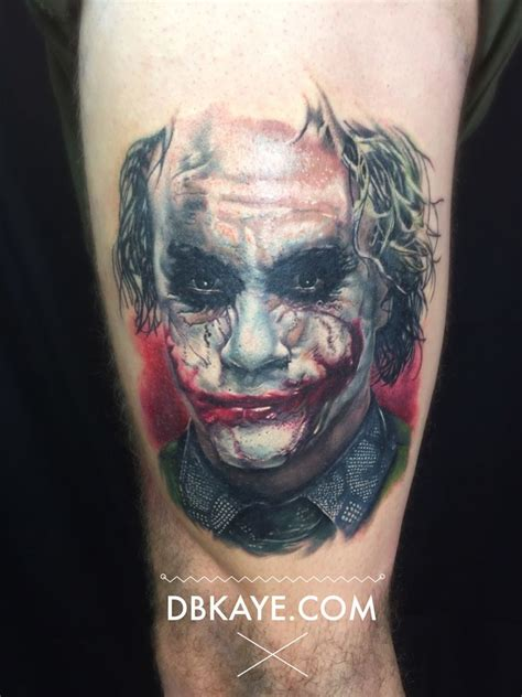 jokers tattoo and piercing calgary heath ledger joker portrait tattoo dbkaye by david