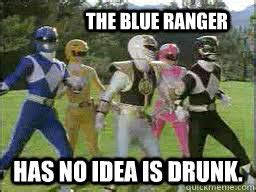 Power Ranger Meme - how you feel when your clique walks into a club power