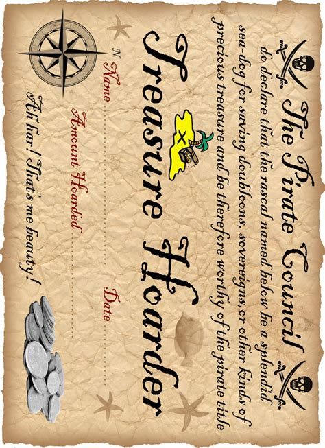 pirate certificate template certificate templates on disney junior