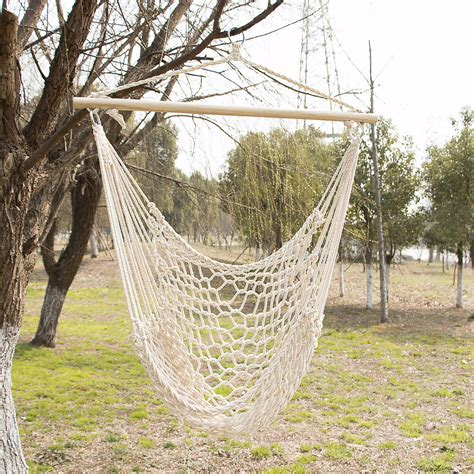 Hammock Swing by Outdoor Hanging Swing Cotton Hammock Chair Solid Rope Yard