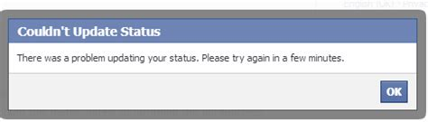 fb error facebook bug means that many users can t post status updates