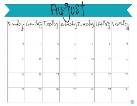 printable monthly calendar august 2014 august 2014 calendar free printable live craft eat