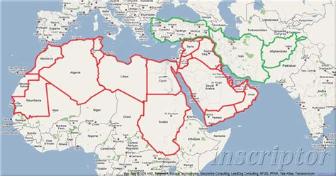arab map countries map of arab country