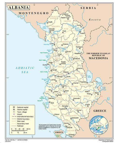 map of albania albania ecoi net european country of origin information network