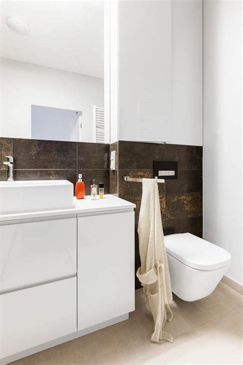 Black Kitchen Furniture Modern Bathroom With Glass Shower Home Inspire