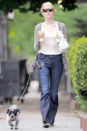 emma stone dog 21 celeb dogs match the star owners to their pups