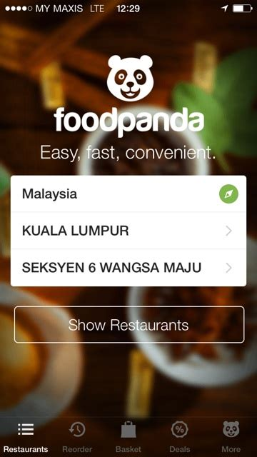Pesanan Nofia aplikasi foodpanda kini di telefon pintar cepat mudah