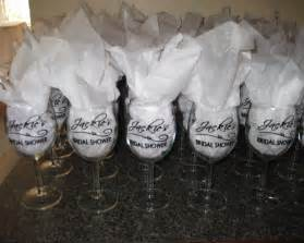 Wedding Favor Wine Glass by Ten23 Designs Client Project Jackie S Bridal Shower By