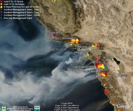 california fires satellite photos data in