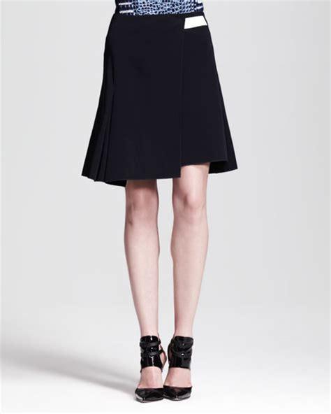 reed krakoff a line paneled wrap skirt