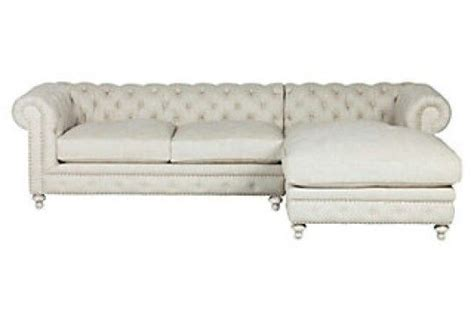 tufted sofa with chaise tufted chaise sofa trans traditional decor i love