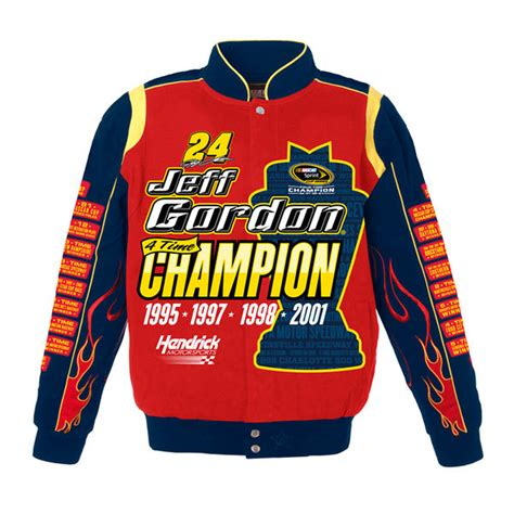design your own nascar jacket jeff gordon commemorative 4 time chion mens red twill