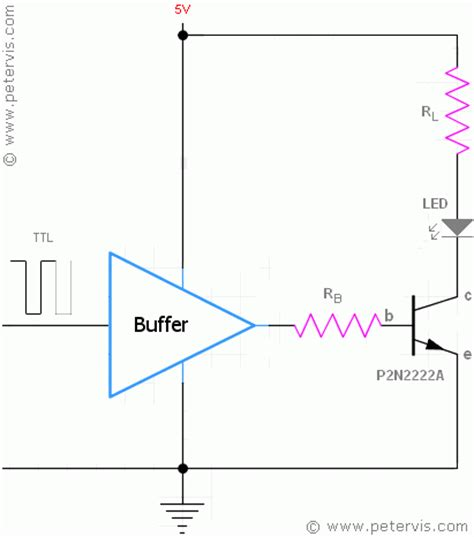 npn transistor driver circuit driving an led using a transistor