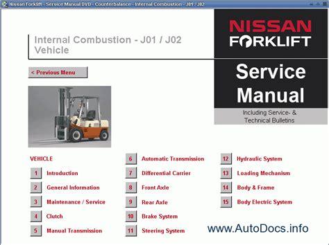 nissan forklift service manual repair manual order