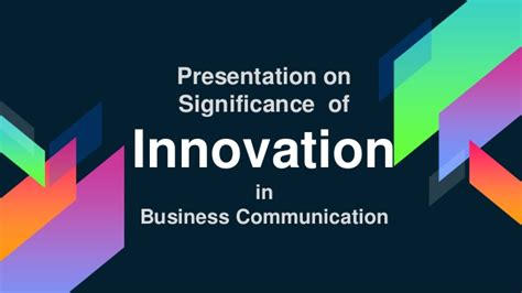 Importance Of Md Mba importance of innovation in business