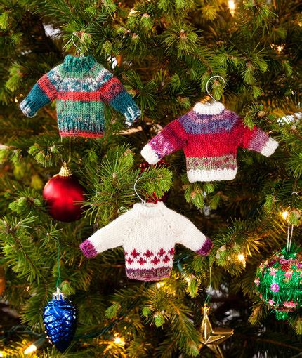 christmas jumper tree decorations pattern noel knit sweater ornaments red heart