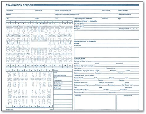Comprehensive Dental Template Dental Office Forms Gather Essential Information Benco