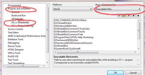 tutorial setting directx  direktori vc
