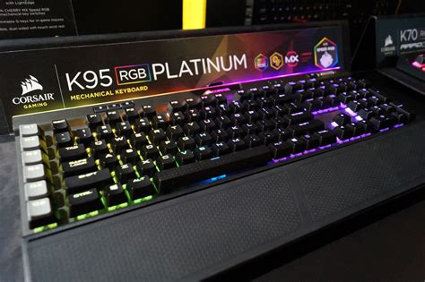 corsair lights up ces with rgb ram and new k95 keyboard