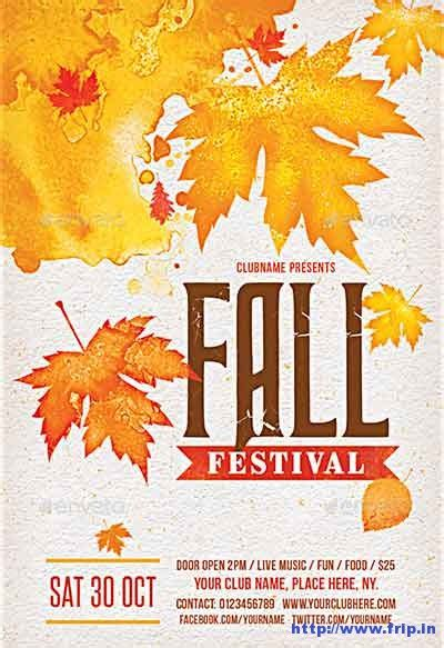 80 best fall festival flyer print template 2017 frip in