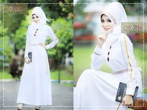 Tunik Fitria afifa by fitria style putih baju muslim gamis modern