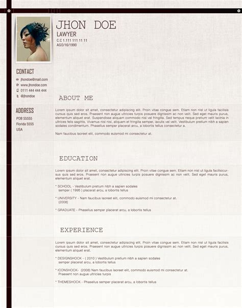 Cv Template Lawyer Lawyer Cv Template