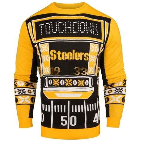 steelers light up sweater pittsburgh steelers nfl 2016 mens light up sweater