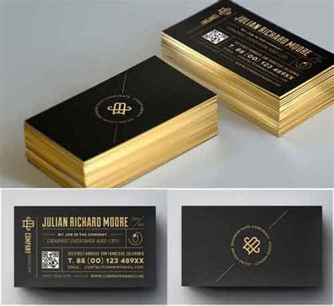 gold business card template free free business card template designs 30 psd vector files