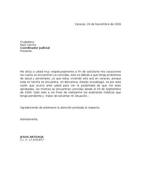 formato modelo ejemplo solicitud de adelanto de scribd carta solicitud vacaciones