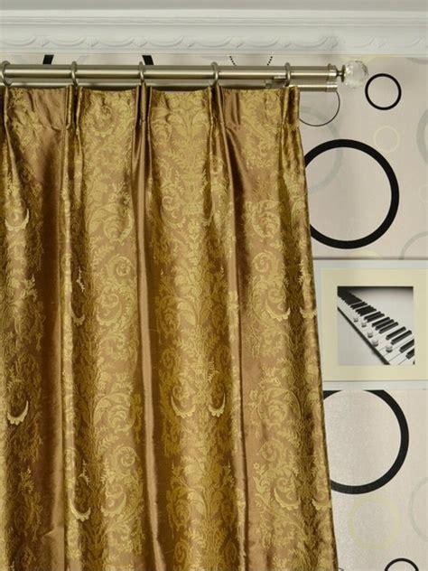 brown silk curtains brown embroidered scroll damaskversatile pleat dupioni