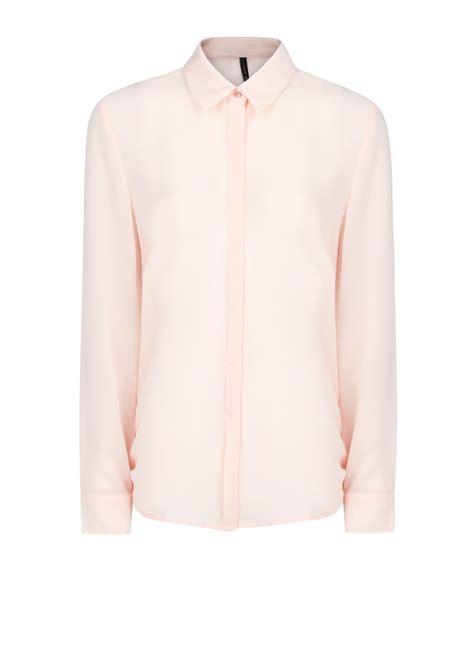 Light Pink Sleeve Shirt by Mango Sleeve Flowy Shirt In Pink Light Pink Lyst