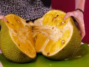 we tried jackfruit the huge tree fruit that supposedly