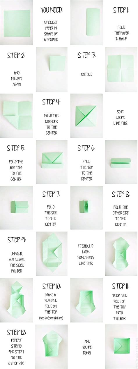 Diy Origami Box - diy origami box design and form