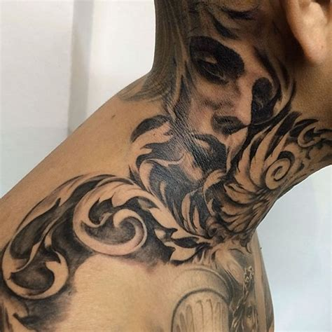 neck tattoo bad idea 101 inescapable neck tattoo designs and ideas