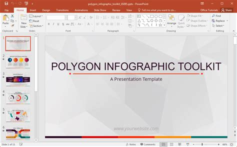Animated Polygon Infographic Template For Powerpoint Infographic Templates Powerpoint