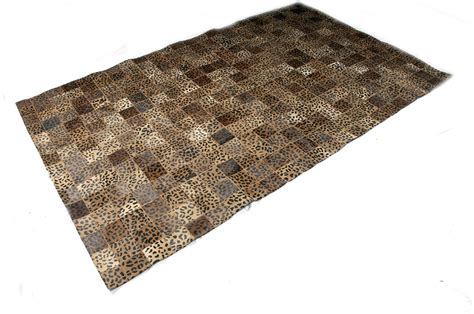 Cow Skin Area Rugs Leopard Pattern 5x8 Cow Skin Leather Cowhide Rug Carpet