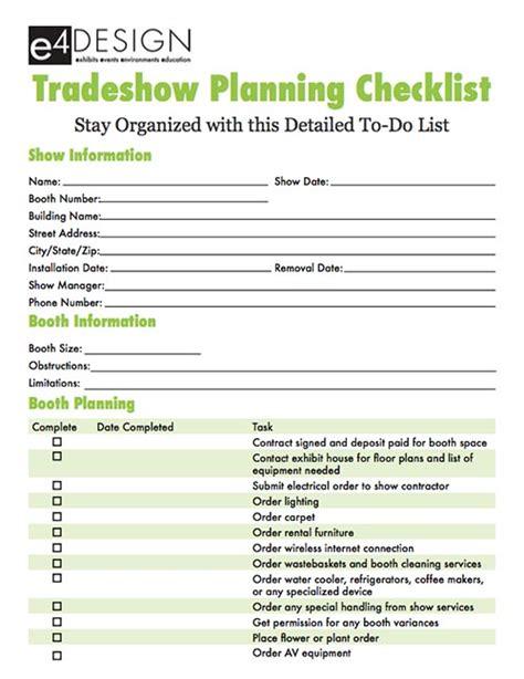trade show checklist and marketing tips jyler tradeshow planning checklist e4 design